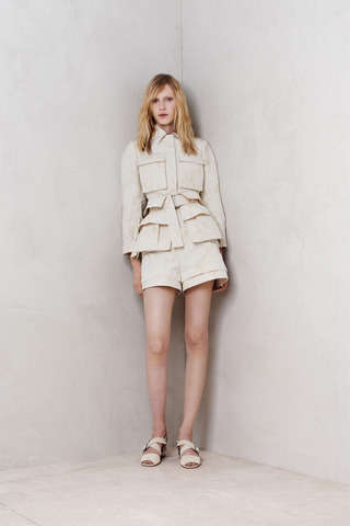 Tumescent Skirt Attires - The Alexander Mcqueen Resort 2014 Collection is Light and Youthful