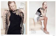 Eclectically Textured Editorials - The Numero Tokyo Photoshoot Stars Kirsten Owen