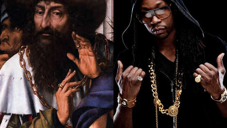 Historic Rapper Comparison Captures - Cecilia Azcarate Draws Parallels Between Hip Hop and History