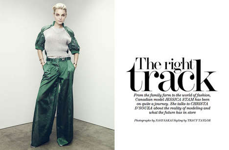 Tracksuit-Inspired Editorials - The Edit April 2014 Cover Shoot Stars Canadian Model Jessica Stam