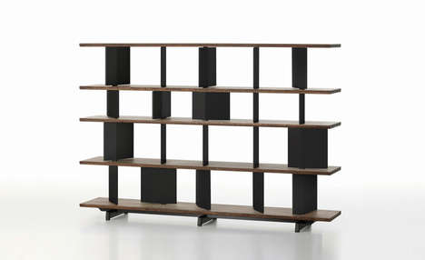 Stylishly Versatile Shelves - This Bookshelf by Basber Osgerby Can Double as a Room Divider