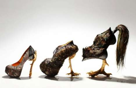 Cock-Inspired Stilettos - Bird-Witched by Masaya Kushino is Influenced by Painter Jakuchu Ito