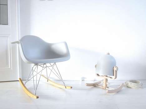Furniture-Inspired Lighting - The Rocking Lamp by M.OSS is Modelled After the Eames Rocking Chair