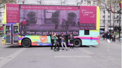 Gigantic Vehicular TV Screens - London Live's TV Bus Has the World's Largest Vehicular Screen