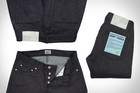 Strangely Scented Jeans - These Scratch-n-Sniff Jeans by Tate+Yoko are Chic and Sweet-Smelling