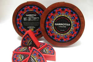 Branding for Garrotxa Cheese Wheels Have a Stained Glass Pattern
