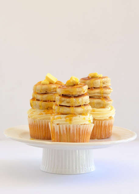 Pancake-Stacked Cupcakes - These Indulgent Cupcakes Incorporate the Traditional Pancake Recipe