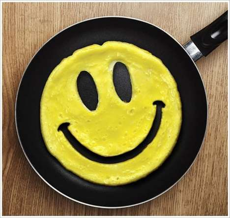 Happy Face Breakfasts - The Crack a Smile Egg Mold Ensures Everyone Starts the Day Off Right