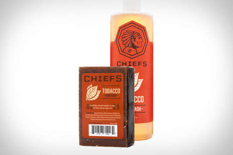Tobacco-Scented Soaps - The Chief Tobacco Scented Soaps Have a Smoky Fragrance