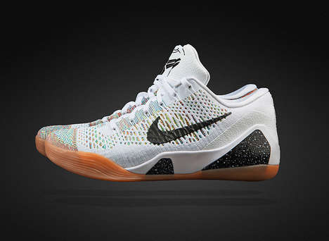 Embossed Snake Scale Kicks - The Nike Kobe 9 Elite Low HTM Design is High-Tech