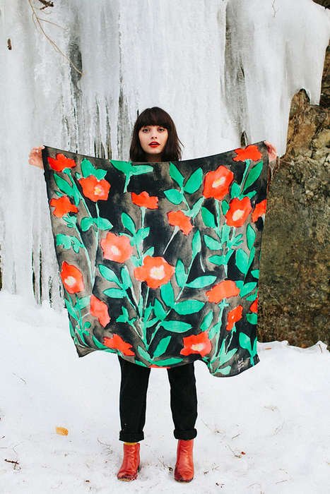 Kitschy Kerchief Collections - Leah Goren Fall/Winter 2014 Scarf Line is Covered in Prints