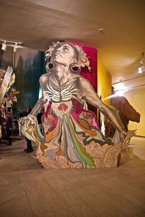Eclectic Material Installations - Submerged Motherlands by Swoon is Put on at the Brooklyn Museum