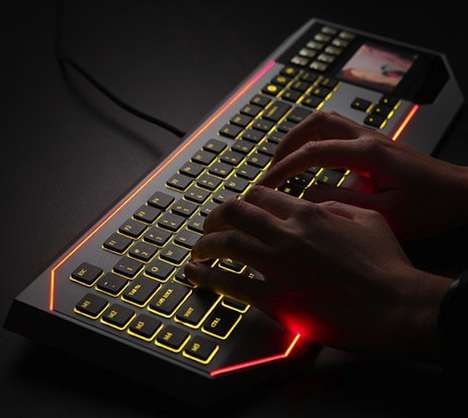 Galactic Touchpad Keyboards - The Star Wars Keyboard with LCD Touchpad is a Nerdy Techcessory