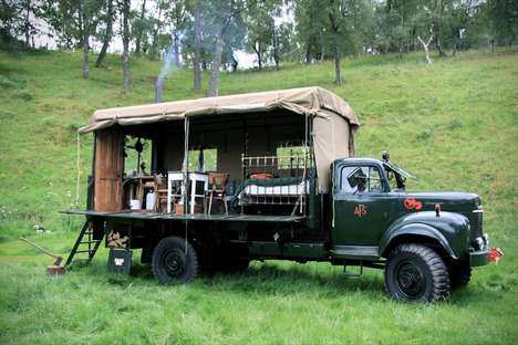 Rustic Mobile Campers - This Truck Adds Elements of Luxury to Mobile Camping