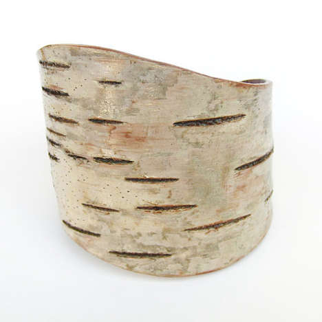 Whimsical Wood Bracelets - These Wood Bracelets are Eco-Friendly and Made from Birch Bark