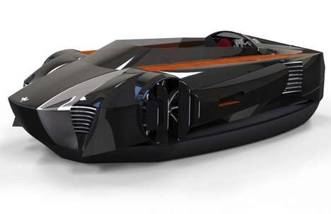 Fierce Futuristic Hovercrafts (UPDATE) - The Mercier-Jones Hovercraft Will Be a Reality in May