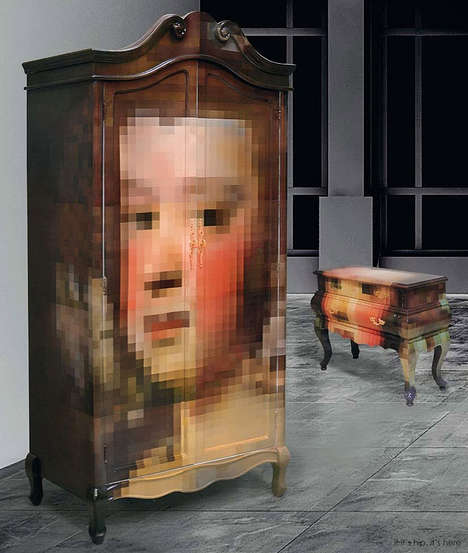 Pixelated Storage Furniture - The Trip Pixel Furniture Series for Seletti Features a Woman