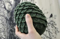 Plush Fantasy Eggs - These Knit Dragon Eggs are a Plush Version of Daenerys' Dragon Eggs