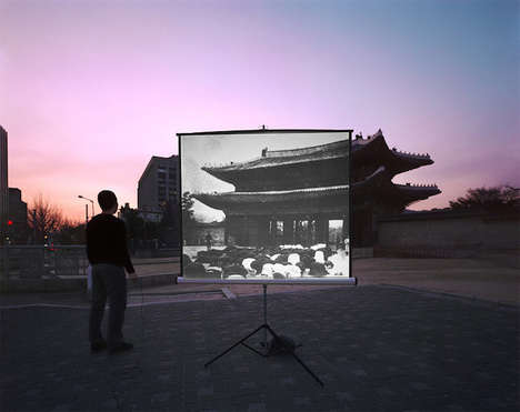 Historic Superimposed Landscapes - The Sungseok Ahn Images Match Locations with Images from the Past
