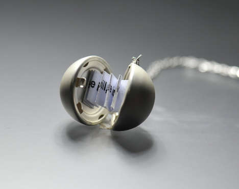 Inscribable Secret Lockets - The Secret Message Locket Necklace Lets You Inscribe a Note Inside