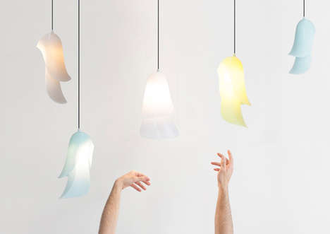 Whimsical Floating Lamps - The Cape Lamp by Constance Guisset Has a Flowing Form