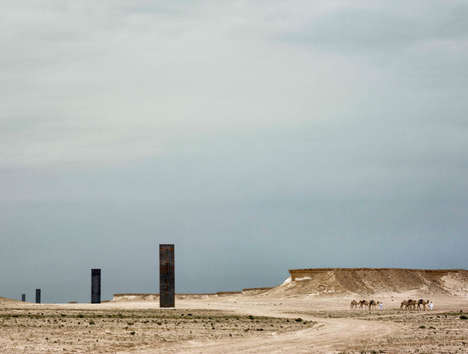 Towering Beam Desert Installations - Richard Serra Adjusts the Brouq Nature Reserve with Steel