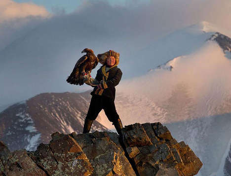 Authentic Eagle Hunting Images - The Asher Svidensky Captures Showcase Traditional Kazakh Activities