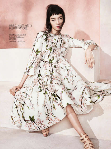 Refreshed Romantic Editorials - Fei Fei Sun Stars in the Vogue China May 2014 Issue