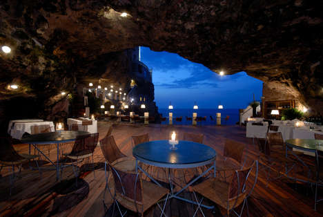 Cavernous Cultural Restaurants - The Grotta Palazzese is an Italian Restaurant Built in a Cave