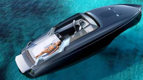 Retractable Roof Boat Concepts - The Reversys Boat Concept Has a Flexible, Electric Roof System
