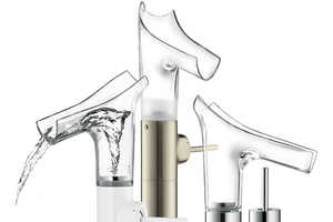 The Axor Stark V Funnels Water Out of the Pipes