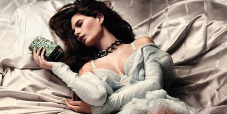 Lazy Lacey Boudoir Editorals - Madame Figaro Captures Monica Cima in the Issue