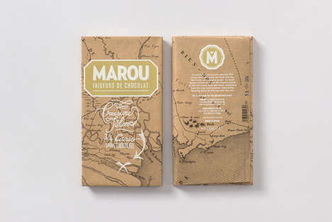 Treasure Map Chocolate Branding - Marou