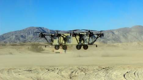 Hybrid Land Helicopters - The Black Knight Transformer Fuses a Helicopter with an Off-Road Vehicle