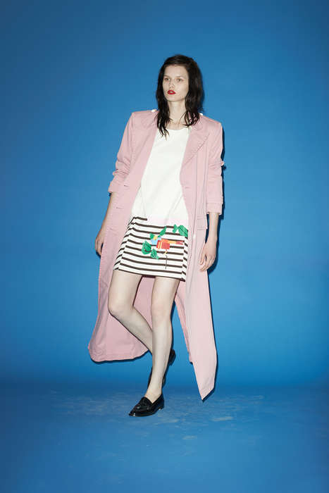 Cigarette Pant Fashion Collections - Band of Outsiders Resort 2014 Gives You the London Look