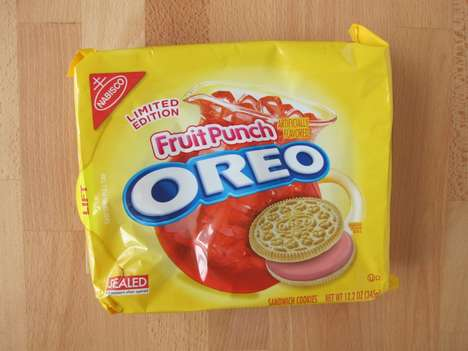 Fruit Juice Cookies - Nabisco is Now Offering Fruit Punch Oreo Cookies for a Limited-Time