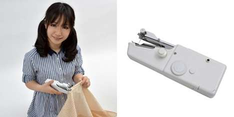 USB-Powered Sewing Machines - This Handheld Sewing Machine Lets You Sew Wherever You Please