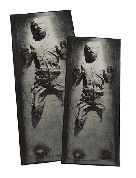 Heroic Frozen Carbonite Rugs - This Han Solo Rug Uses One of the Most Iconic Scenes for Inspiration