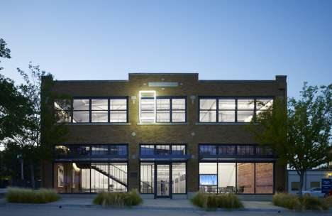 Refurbished Factory Buildings - This Office by Elliot and Associates Modernizes a Historic Building