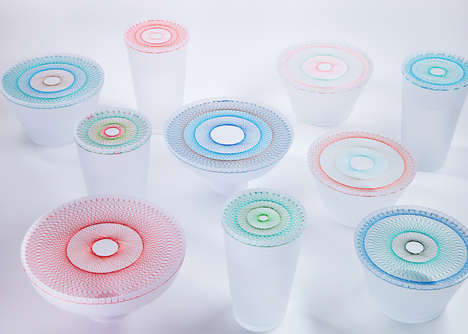 Geometric Stitched Tableware - The Bloom Collection of Artsy Tableware Debuted at Milan Design Week