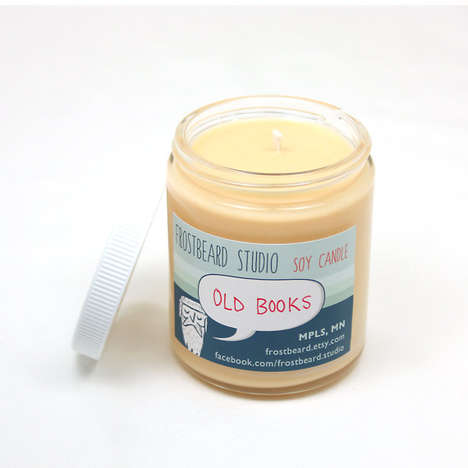 Book-Scented Candles - These Soy-Based Candles Creatively Smell Like Old Books