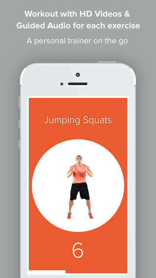 High Intensity Workout Apps - Quick 4 is a Highly Condensed Four Minute Workout App