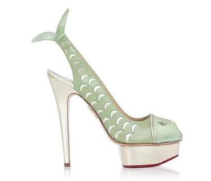 Aquatic Fishtail Pumps - These Charlotte Olympia Fish Heels Will Reveal Your Love for the Ocean