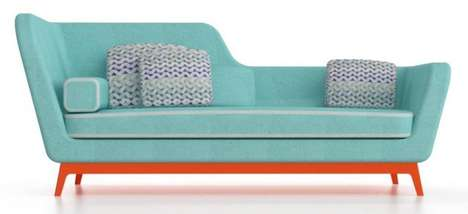 Art Deco-Inspired Couches - Jeremie by Eric Berthes is a Colorful Seating Option