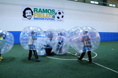 Bubble-Wrapped Soccer Matches -