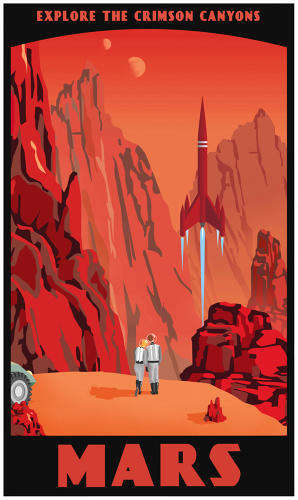 Retro-Inspired Space Tourism - Intergalactic Travel Bureau Posters by Steven Thomas is Adventurous