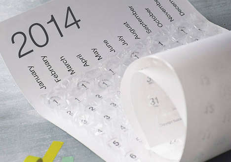 Packing Supply Calendars - The Bubble Calendar 2014 Features a Unique Amalgamation of Qualities