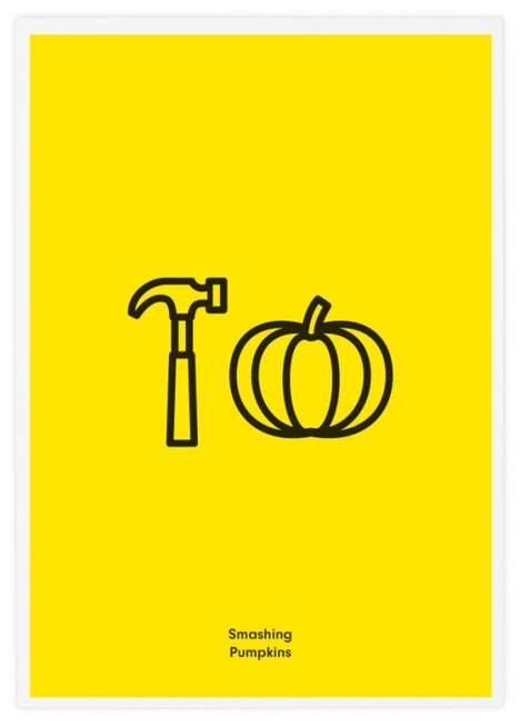 Pictionary-Styled Music Posters - Literal Rock Band Icons by Tata & Friends is Playful and Cheerful