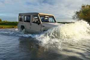 The Amphibicruiser is an Amphibious Vehicle That Runs on Road and Water