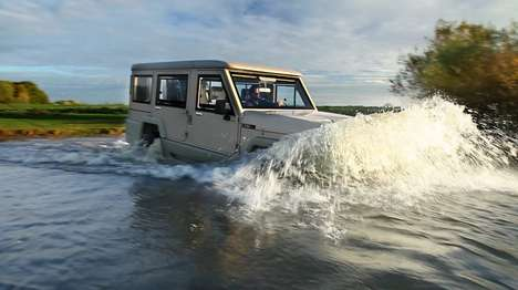 Rugged Amphibious SUVs - The Amphibicruiser is an Amphibious Vehicle That Runs on Road and Water